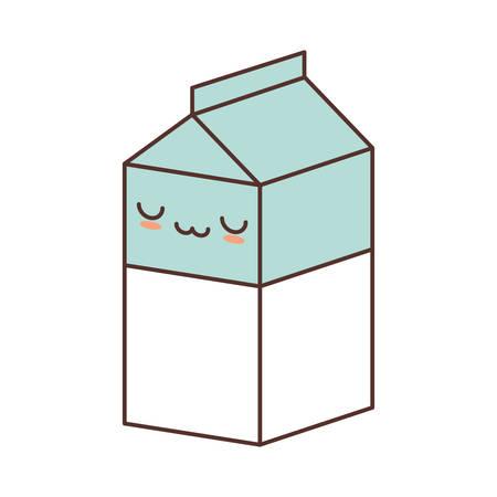 cereal bowl: box carton milk juice vector illustration