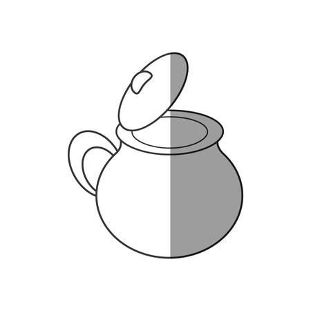pottery kitchen utensil empy shadow vector illustration eps 10 Illustration