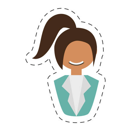 people fashionista woman with head taid , vector illustration design Illustration