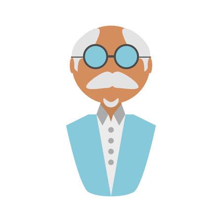 people elegant old man icon image design, vector illustration