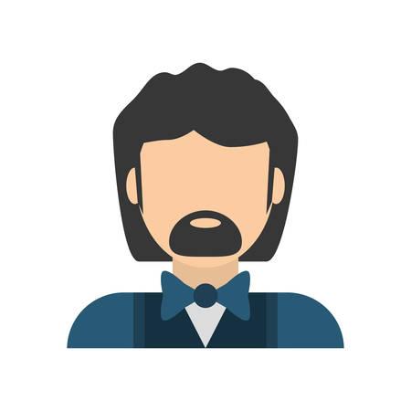 asian family: people commoner man icon image, vector illustration design Illustration