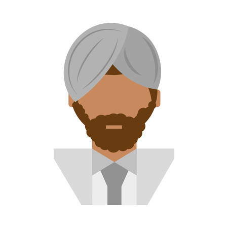 people israeli man with mustache icon image, vector illustration