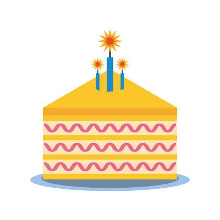 trozo de pastel: party piece cake icon image, vector illustration design Vectores