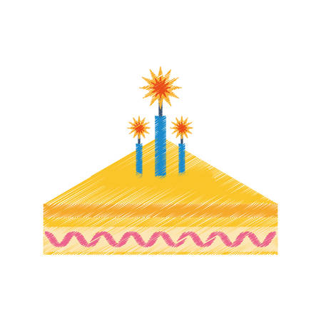 party piece cake icon image, vector illustration design Illustration