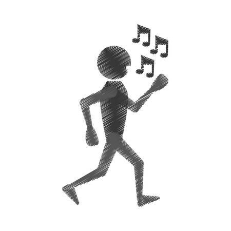 man dancing icon design, vector illustration image Illustration