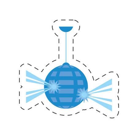 disco ball party icon design, vector illustration