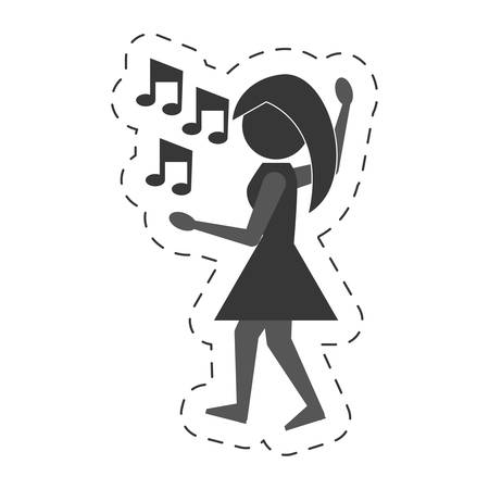 clubber: woman dancing icon design, vector illustration image