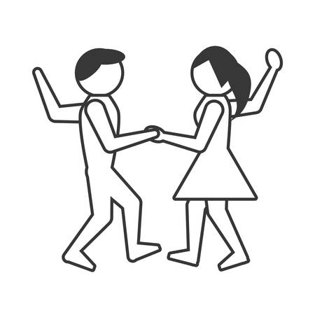 people dancing icon design, vector illustration image Illustration