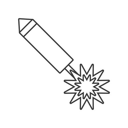 firecracker: party firecracker icon design, vector illustration image Illustration
