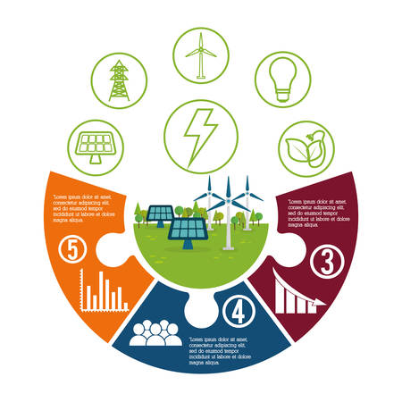 ecology and energy care icon imaage, vector illustration