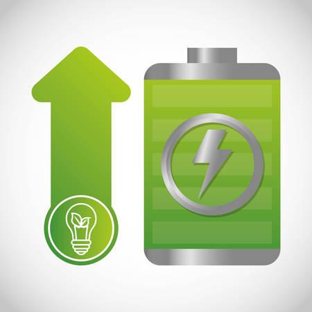 ecology and energy saving care image, vector illustration Illustration