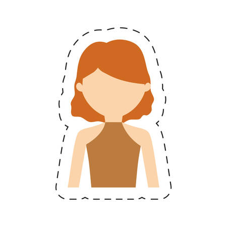 casual woman formal face icon, vector illustration image