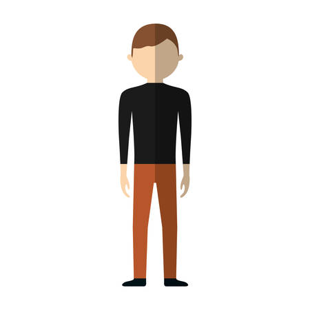 casual man formal cloth icon, vector illustration