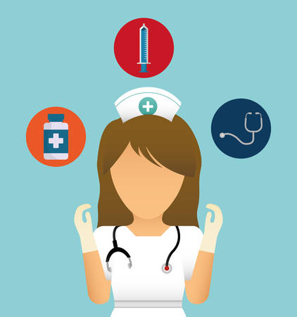 doctor with medical care icon image vector illustration design