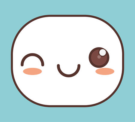 wonderful: wink kawaii icon image vector illustration design