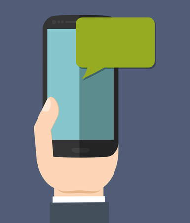 instant messaging: instant messaging smartphone cellphone icon image vector illustration design