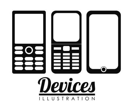 cellphones: cellphones with buttons  icon image vector illustration design