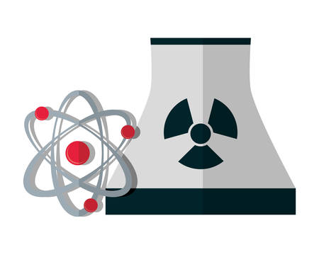 nuclear vector: nuclear plant energy or electricity sources icon image vector illustration design