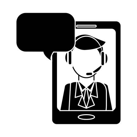 online support technical service or call center related icon image vector illustration design