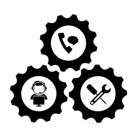 computer repair: technical repair of computer icon image vector illustration design Illustration