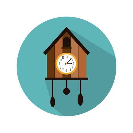 reloj cucu: diseño del ejemplo del vector de la imagen del icono del reloj de pared del cuco