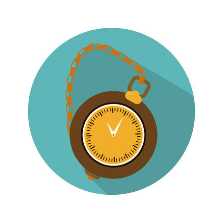 pocket watch clock icon image vector illustration design