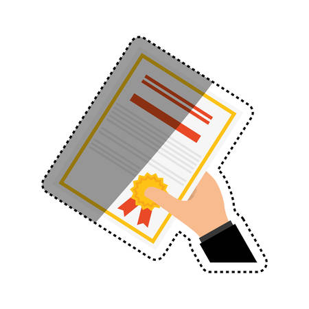 qualification: Diploma education certification icon vector illustration graphic design