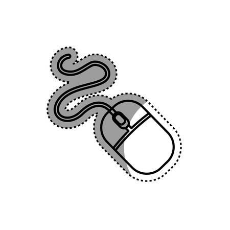 Mouse pc device icon vector illustration graphic design Illustration