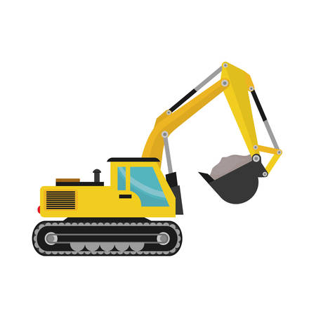 Construction machinery vehicle icon vector illustration graphic design