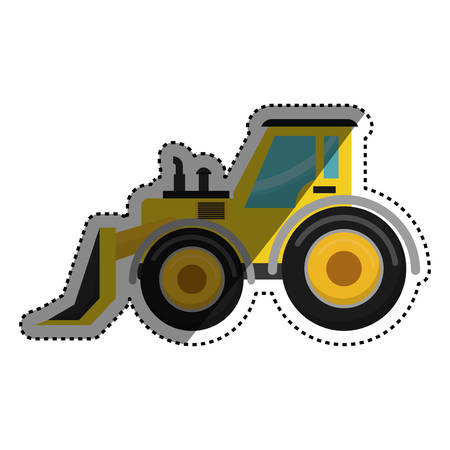 construction vehicle: Construction machinery vehicle icon vector illustration graphic design
