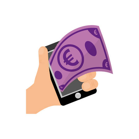 Mobile online payment icon vector illustration graphic design Illustration