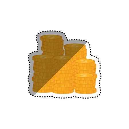 Coins money cash icon vector illustration graphic design