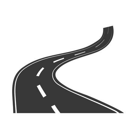 Highway road street icon vector illustration graphic design