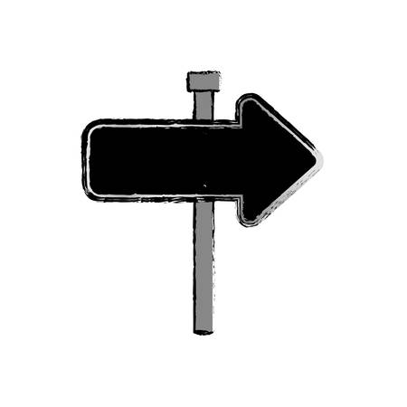 outdoor blank billboard: Road sign isolated icon vector illustration graphic design