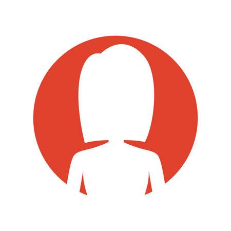 symbol casual woman cloth icon, vector illustration Illustration