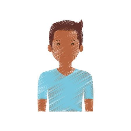 people casual man cloth icon, vector illustration