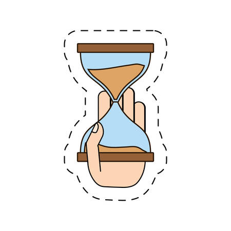 hourglass in the hand icon image design, vector illustration Illustration