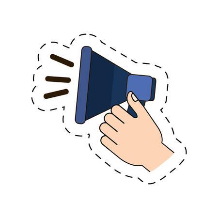 megaphone in the hand icon image, vector illustration design Illustration