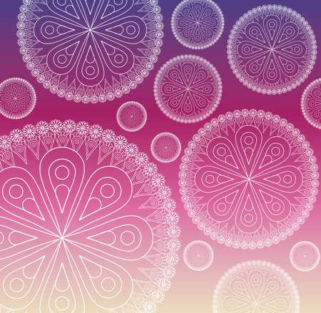 patter: flower shape mandala patter background image vector illustration design