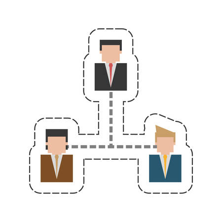 Business hierarchy related icon image, vector illustration design