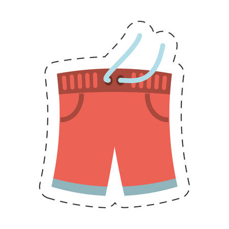 swimming shorts related icon, vector ilustration image Illustration