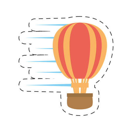 air balloon related icon image, vector illustration