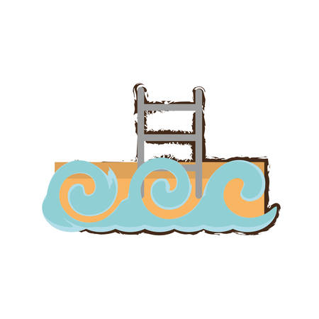 ilustration: swimming pool waves icon image, vector ilustration