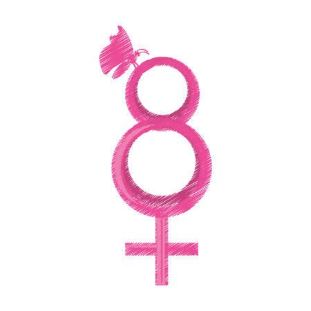 simbolo de la mujer: symbol women day icon image, vector illustration Vectores