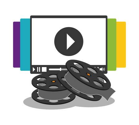 16mm: cinema home video reel vector illustration eps 10