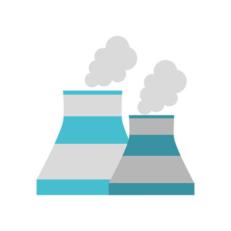 echnology: nuclear power plant enrgy icon vector illustration eps 10