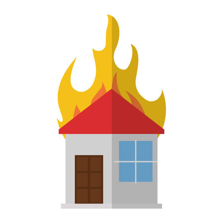 house fire: house fire flame icon vector illustration eps 10