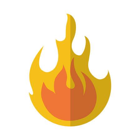 fire flame lgiht icon vector illustration eps 10 Illustration