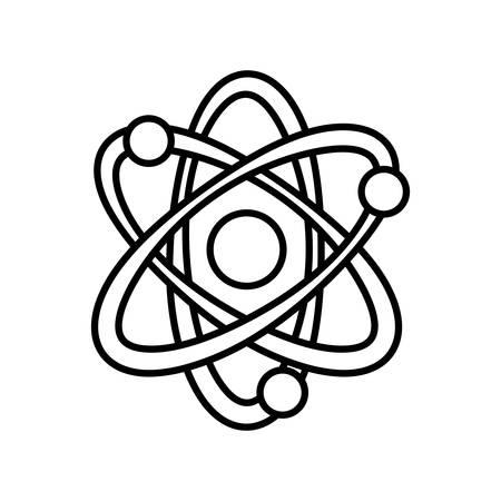 atom molecule energy thin line vector illustration eps 10