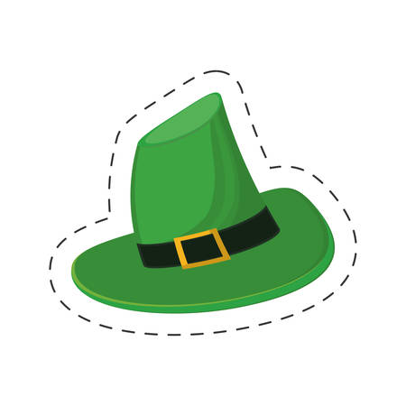 saint patrick day green hat vector illustration eps 10 Illustration